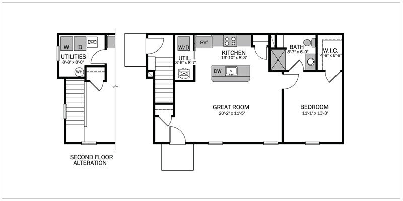 Bentley Flat Floorplan | The Mill at Georgetown Apartments