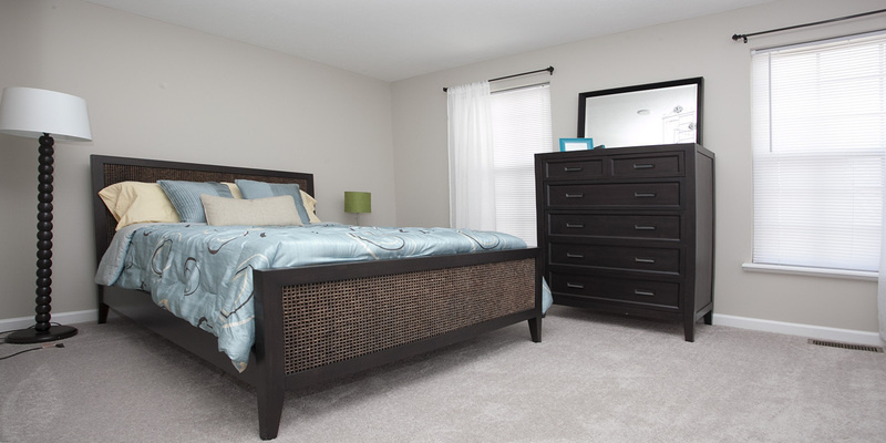 Bentley III Townhome Master Bedroom | The Mill at Georgetown Apartments in Kentucky